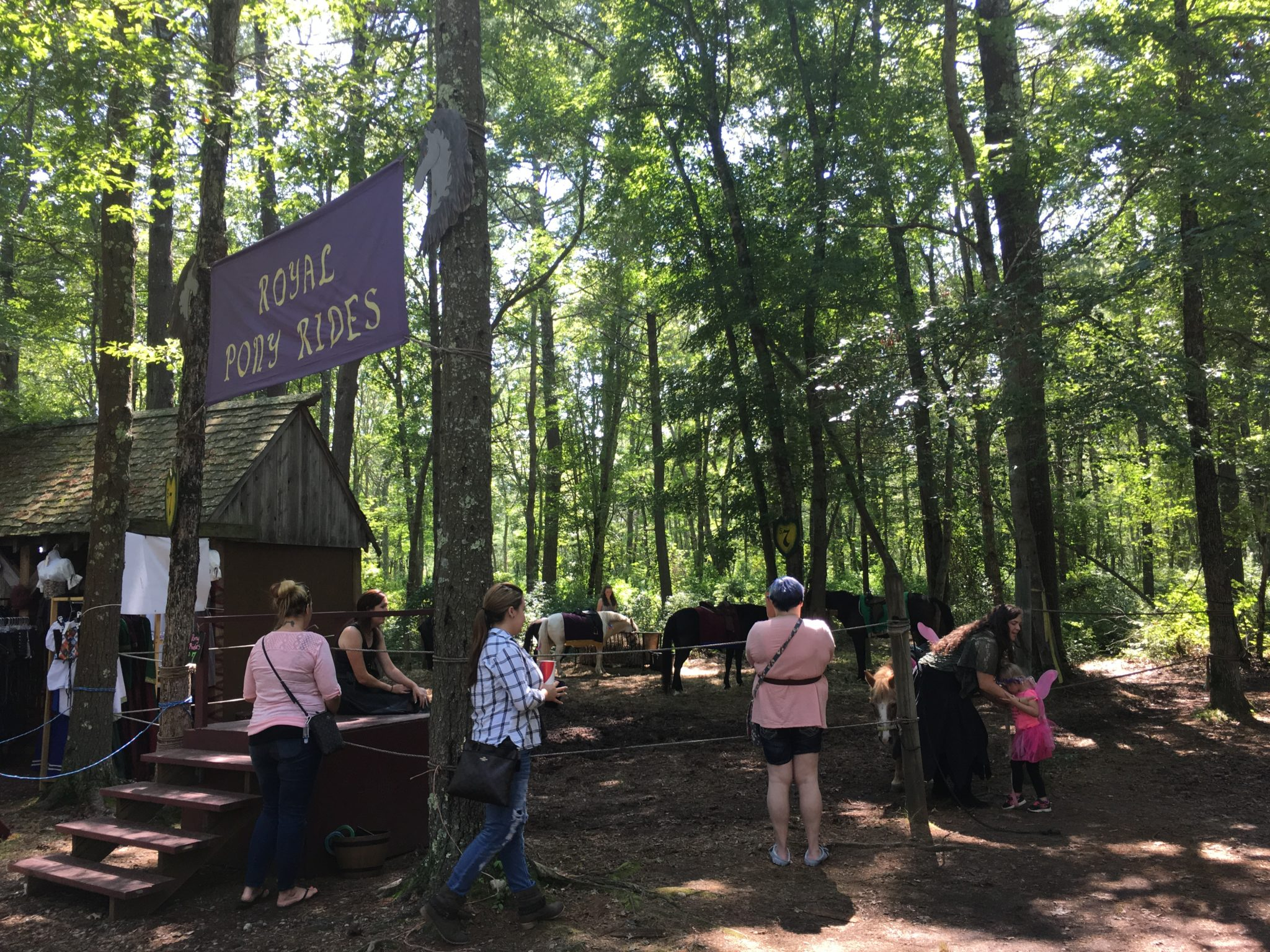 Pony rides are available at King Richard's Faire!