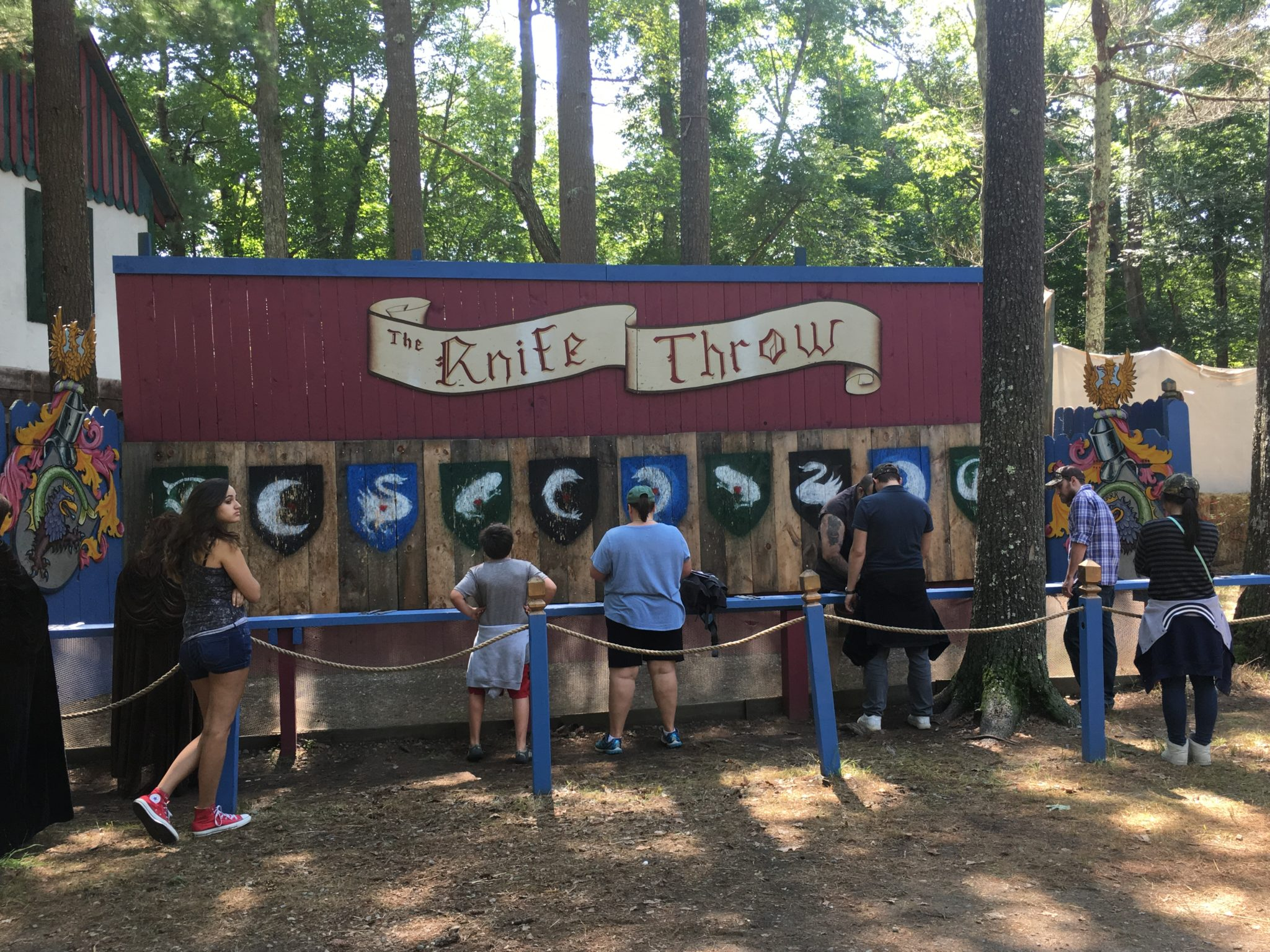 Throw knives King Richard's Faire!