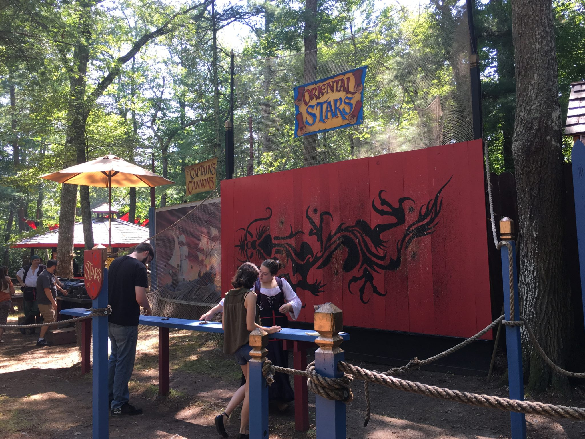 At King Richard's Faire you can try your hand at throwing ninja stars!