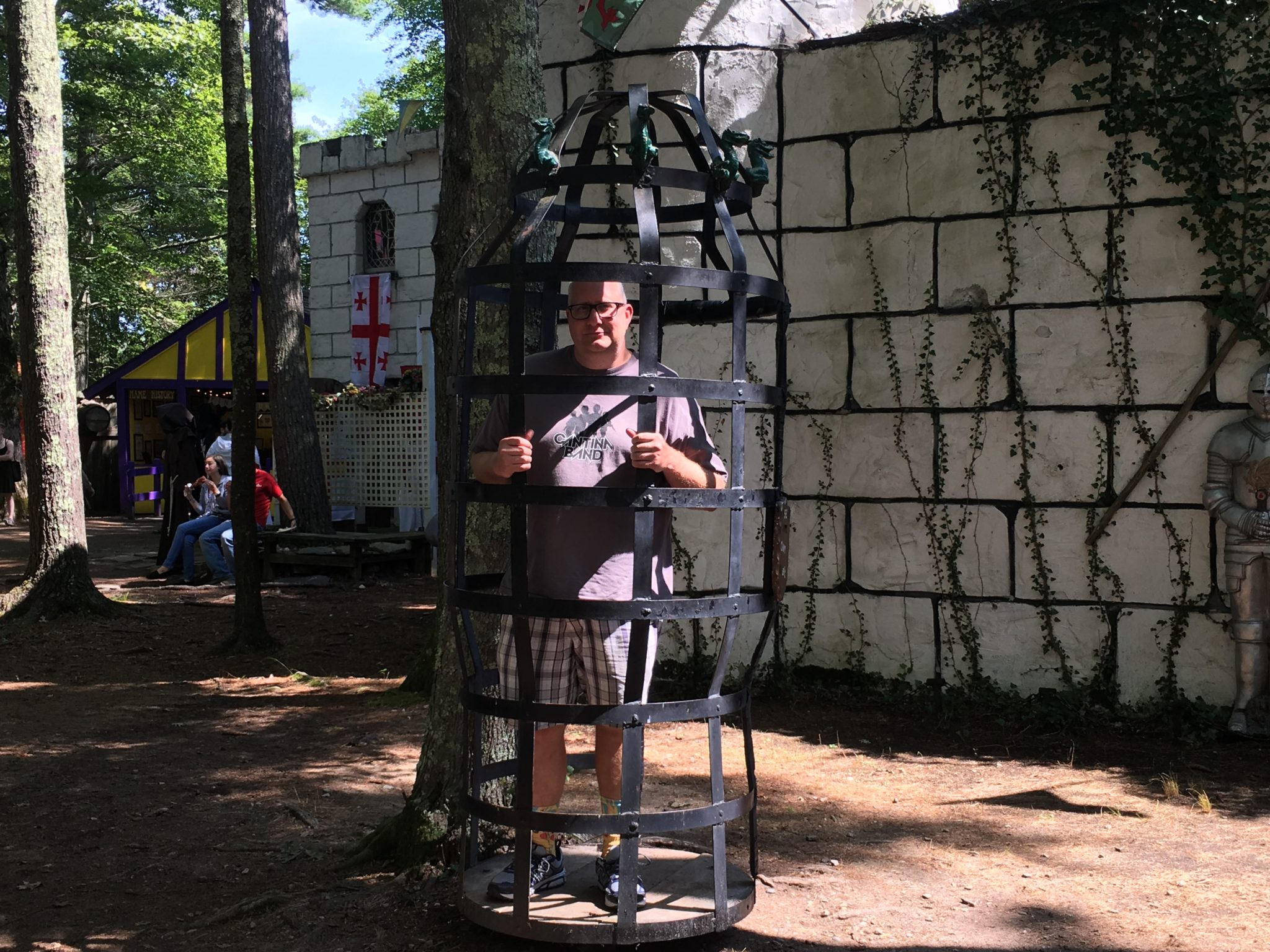 You can also lock your husband in a cage at King Richard's Faire in Carver, MA