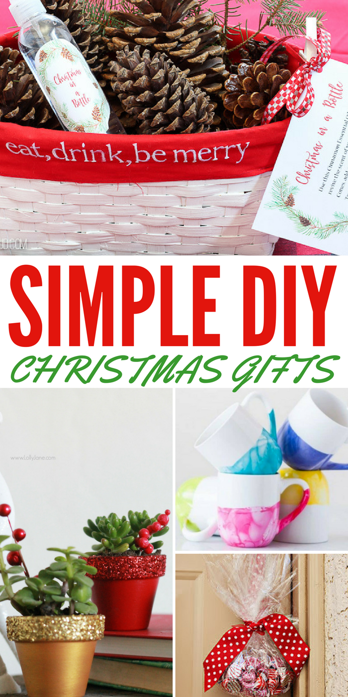 Here are some simple DIY Christmas gift ideas for this year!