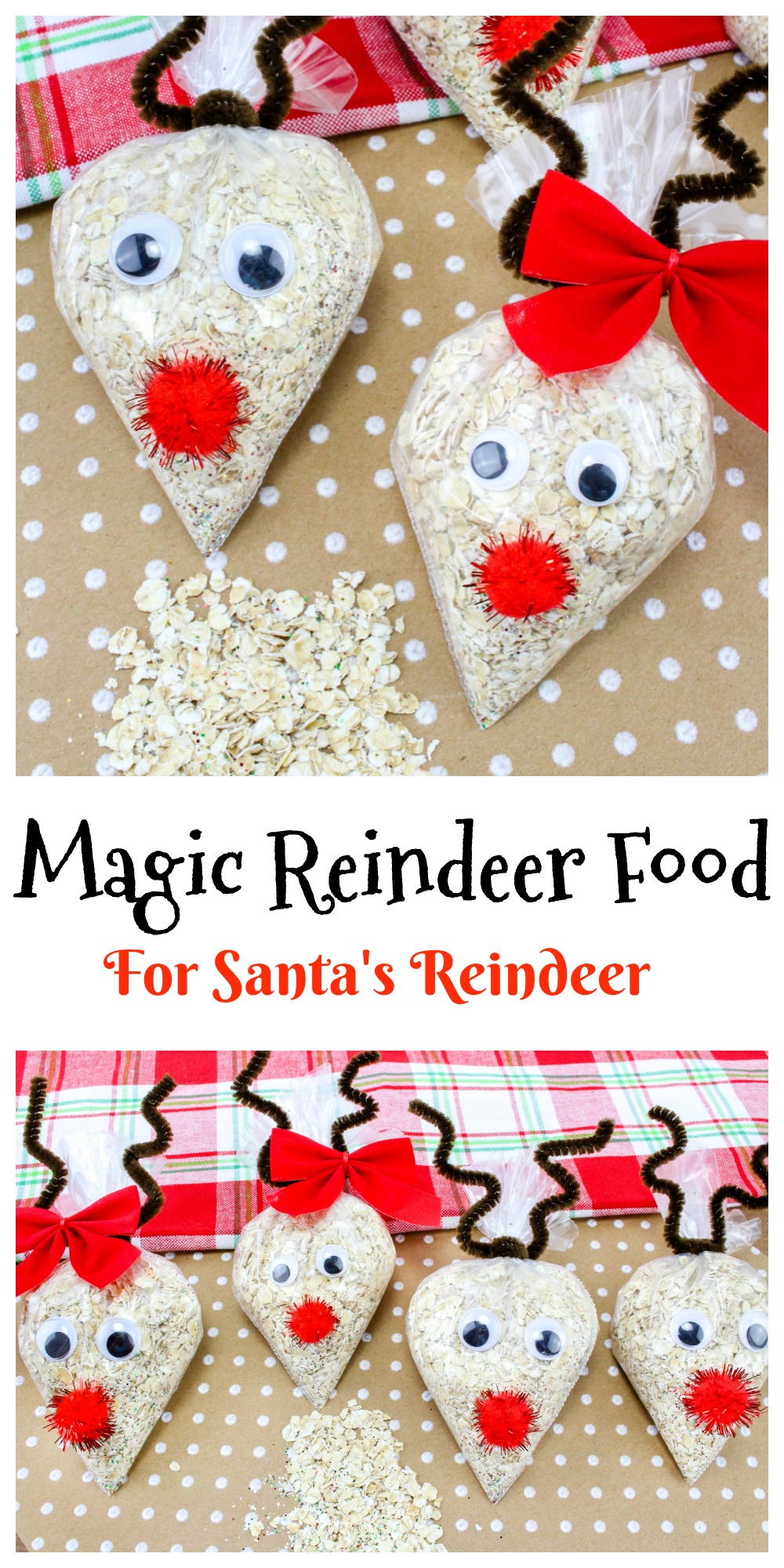 Magic Reindeer Food is really easy to make and it brings the kids so much joy to make this special treat for all of Santa's reindeer on Christmas eve.