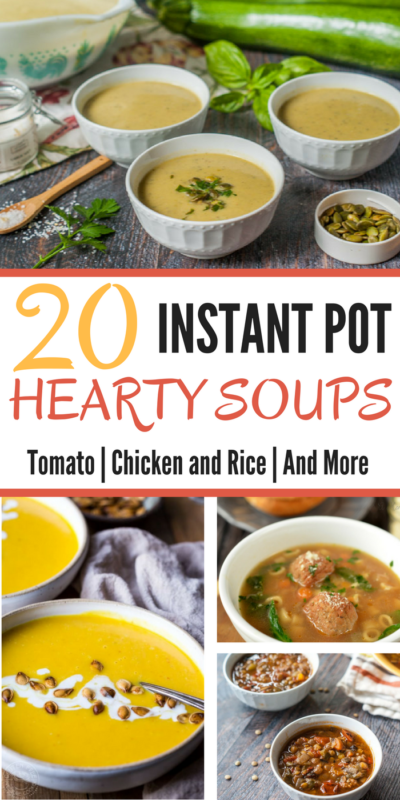 With the colder weather here, I love having hearty and warm soups for dinner. Here's a a list of 20 Instant Pot soups for you to try out this season!