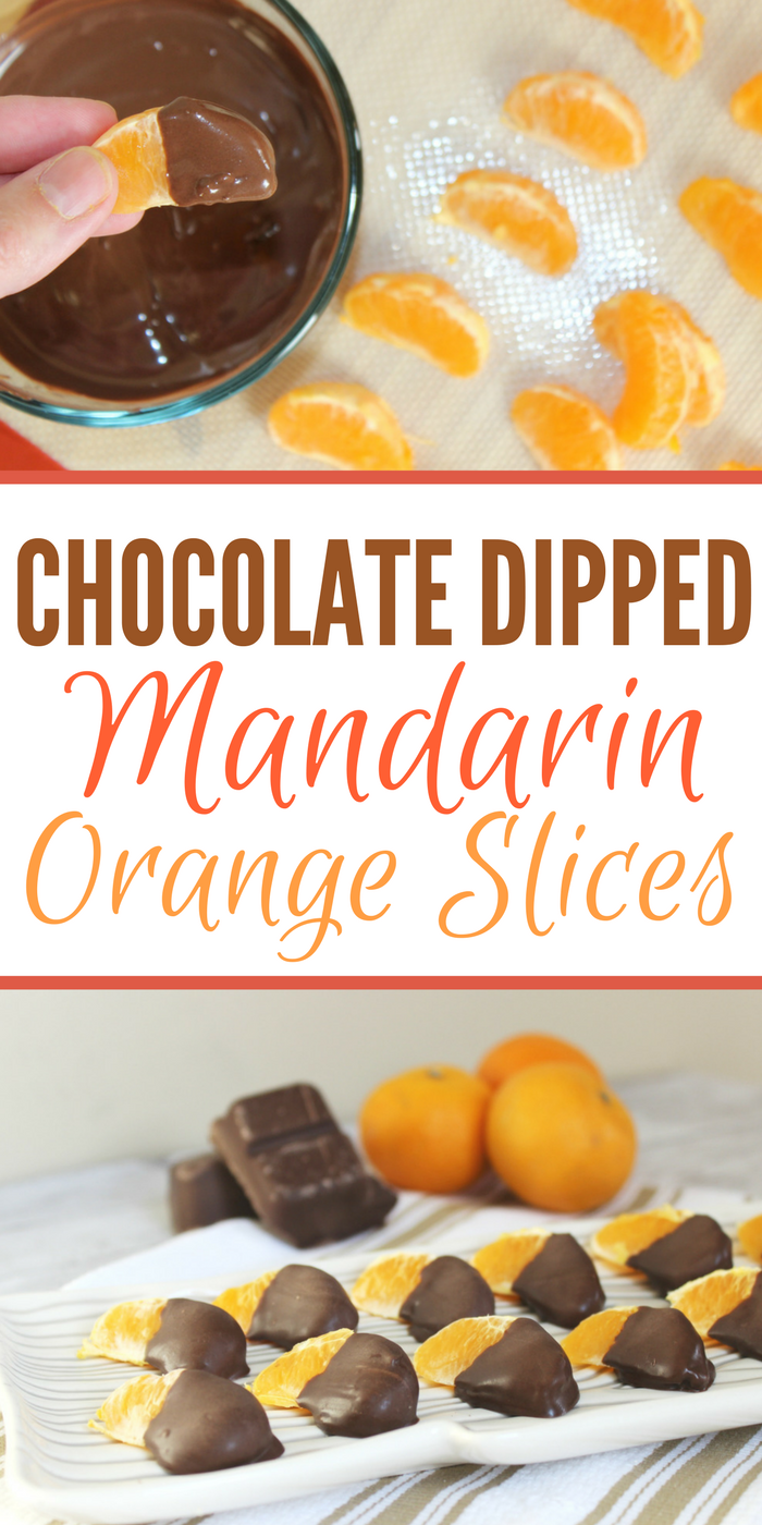If you're craving a sweet snack, these Chocolate Dipped Mandarin Orange Slices are ready in almost no time! They are sure to satisfy your sweet tooth!