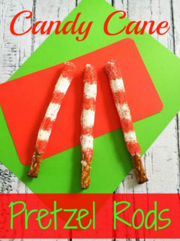 Candy Cane Pretzel Rods are a Quick and Easy Christmas Treat! If you need a delicious holiday snack in a pinch, these are exactly what you are looking for.