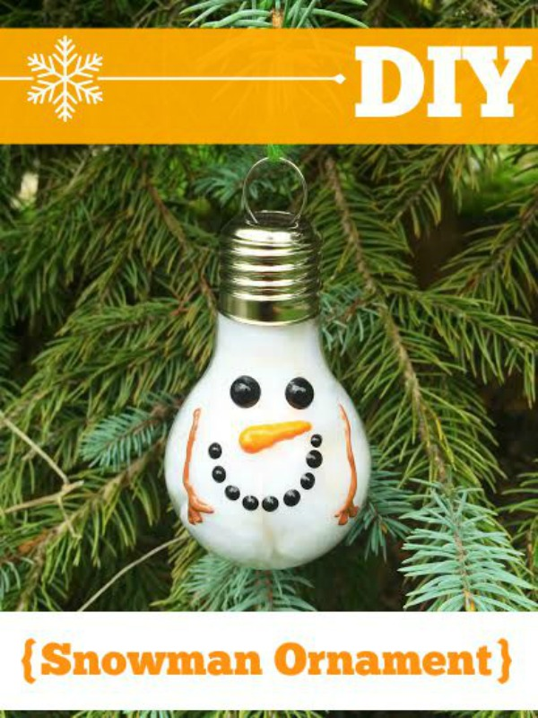 Using only a few supplies from the craft store, you too can make this adorable DIY Snowman Ornament. It's the perfect addition to any Christmas tree.
