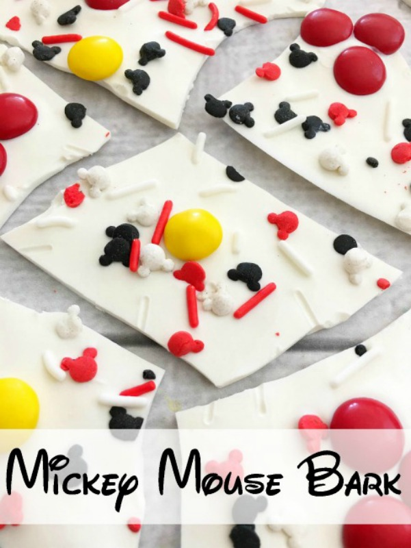This Mickey Mouse bark is not only really easy to make, you only need a few ingredients to make it. It's the perfect treat for your favorite Disney fan!