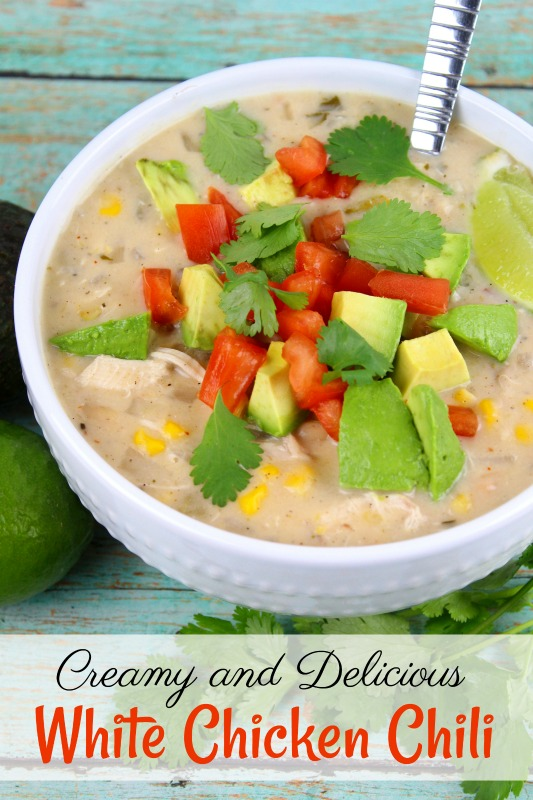 If you are looking for a hearty winter meal, try this Creamy and Delicious White Chicken Chili. It's easy to make and your family will love this delicious recipe.