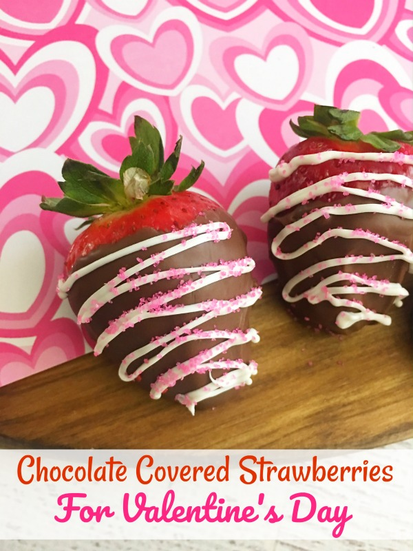Make some Chocolate Covered Strawberries for Valentine's Day. They are easy to make and the perfect treat for those of you who celebrate.