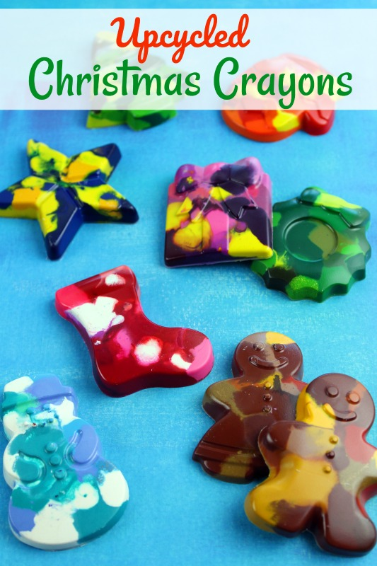 If you have lots of little crayon pieces to use up, try making these fun Upcycled Christmas Crayons this year. They are easy to make and so festively fun!
