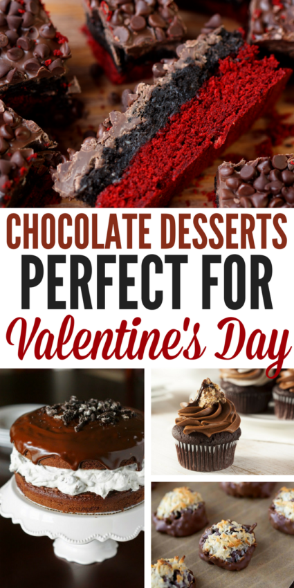 Who doesn't love a little chocolate in their life? Here are 15 Valentine's Day desserts that include chocolate. This is any chocolate lovers dream come true!