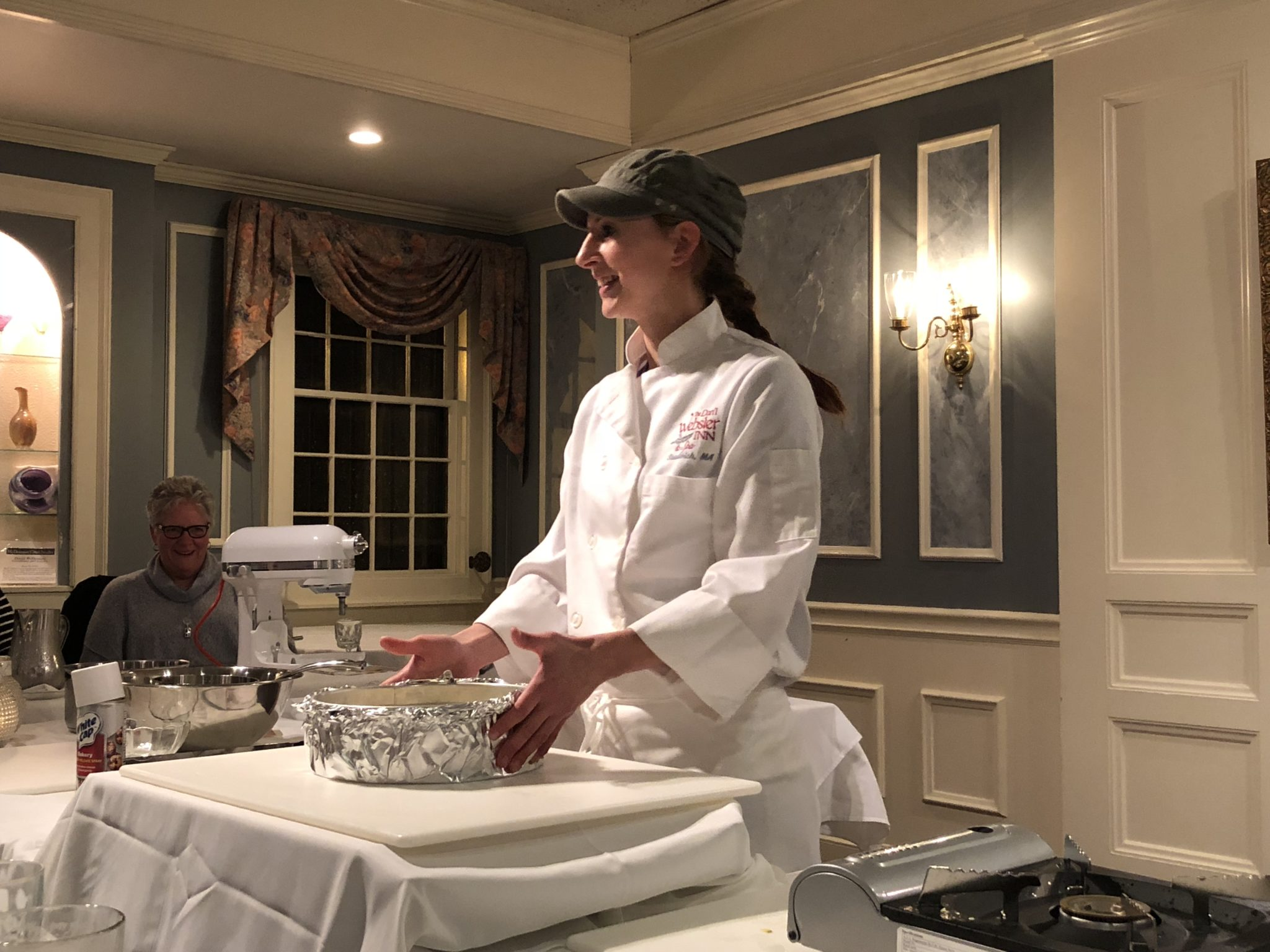 The Chef's Demonstration Table at the Dan'l Webster Inn is a unique entertainment experience. Enjoy a cooking lesson and a wonderful dinner all in one fun night out.