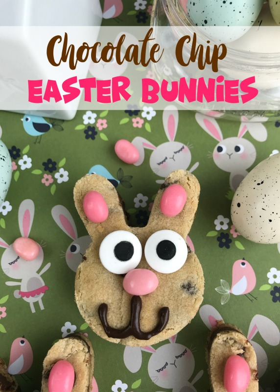 If you are looking for a fun Easter treat, these Chocolate Chip Easter Bunnies aught to do the trick. They're easy to make, super festive and sure to be a crowd pleaser.