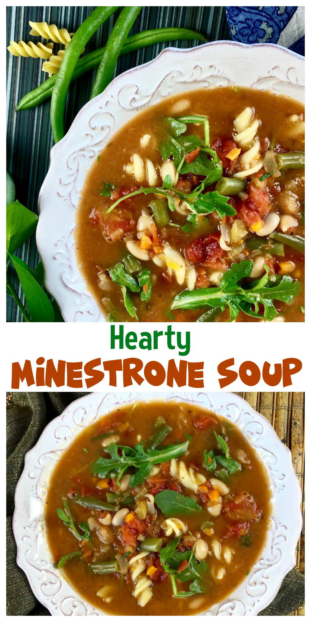 This satisfying hearty minestrone soup features a classic combination of fresh herbs, vegetables, white beans, and pasta. Try it for dinner, you'll like it!