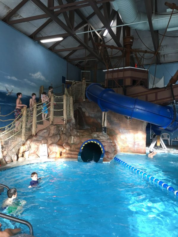 The exclusive Pilgrim Cove features lap lanes and a life-size replica of the Mayflower. A giant, 80-foot water slide winds through the historic ship and passes by a refreshing waterfall.