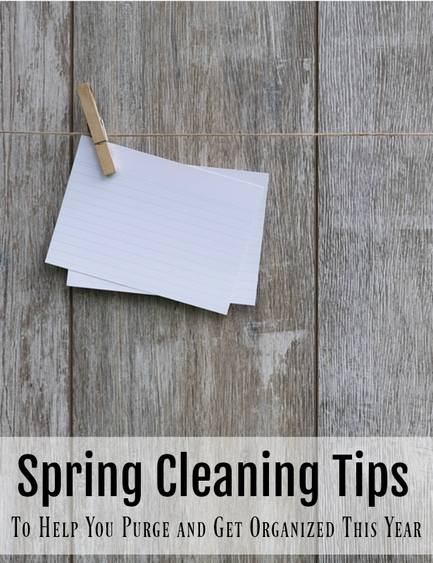 While it doesn't have to be spring to get your clean on, you can use these tips to clean you home. Check out these spring Cleaning Tips To Help You Purge and Get Organized.