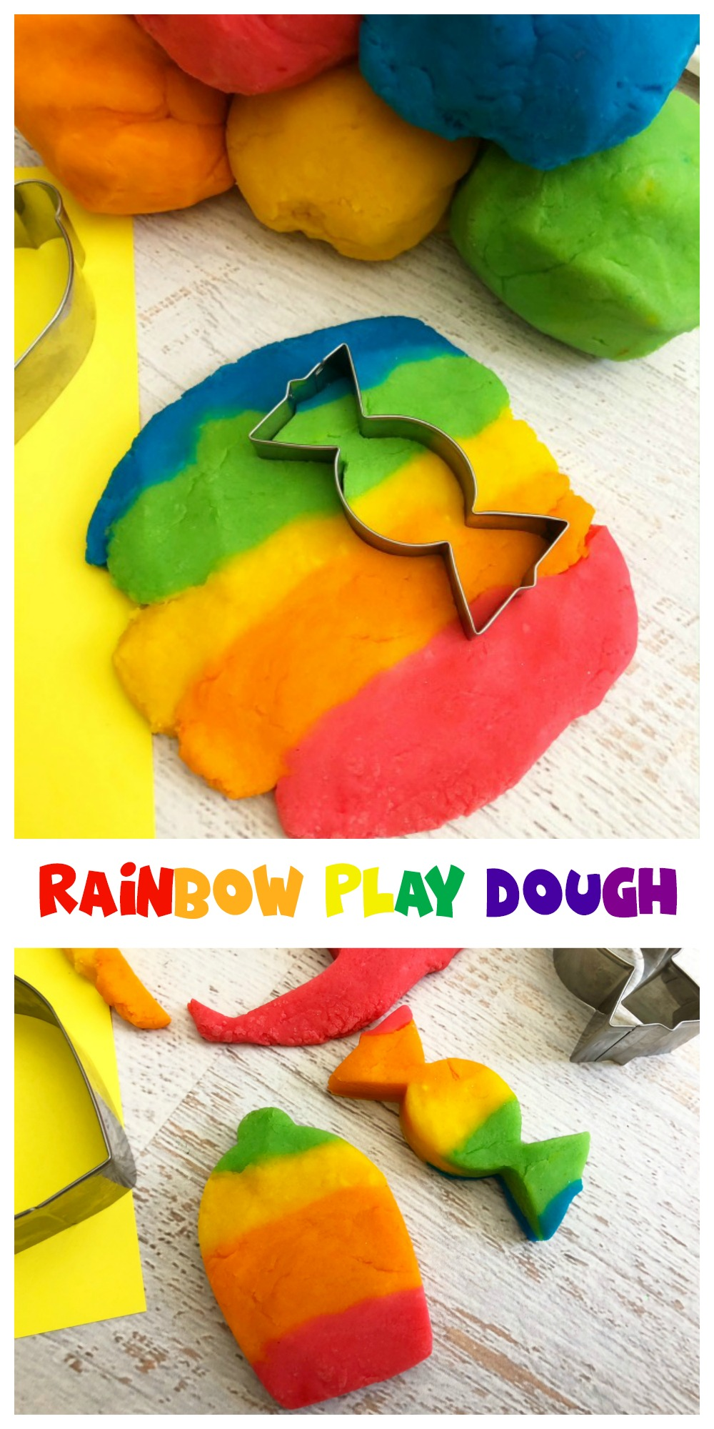 If your child enjoys play dough, try making this homemade Rainbow Play Dough next time. It's easy to make and sure to be a big hit!
