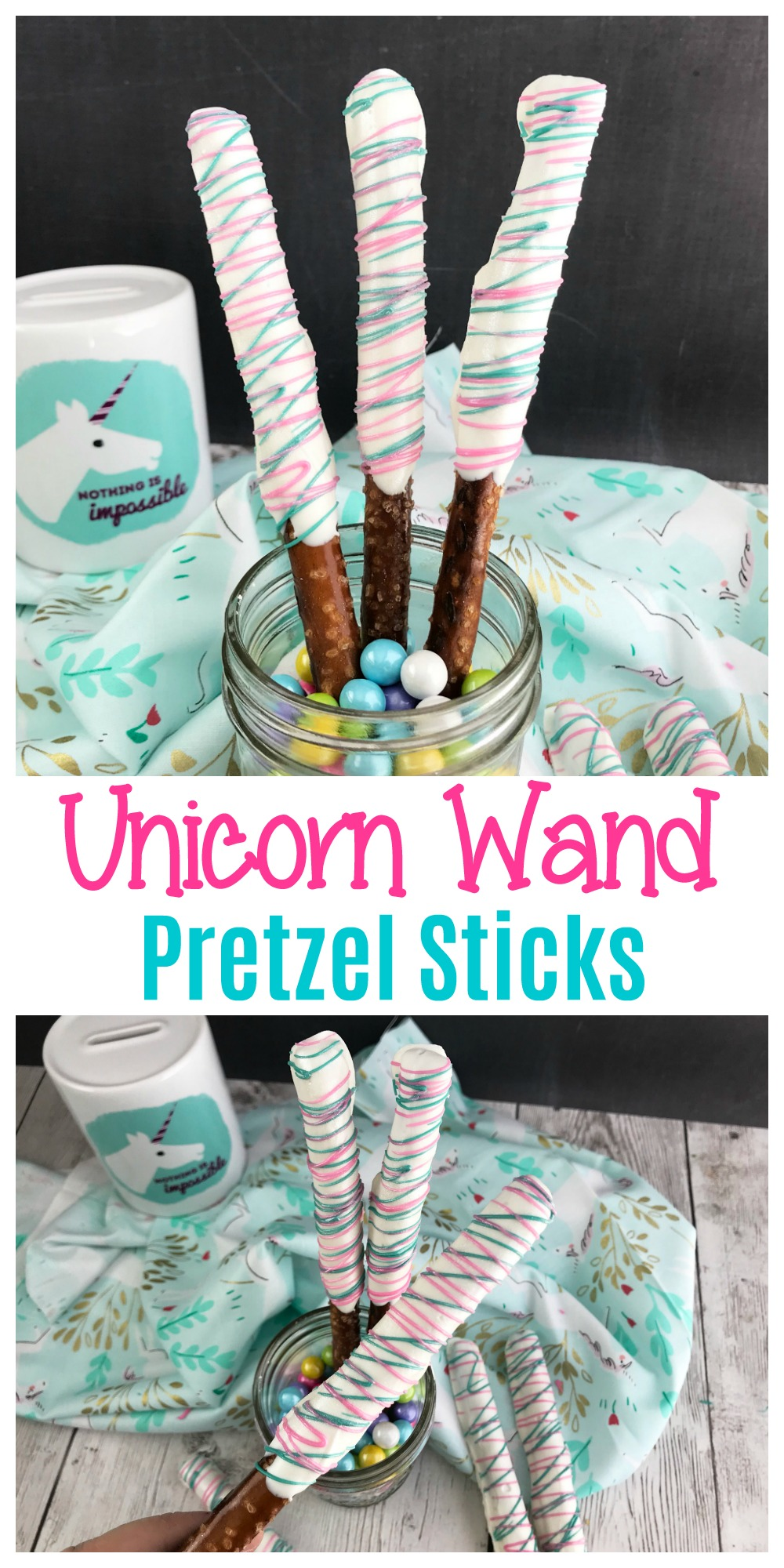 Unicorn Wand Pretzel Sticks are a fun and easy snack that everyone can enjoy. There's just something about that mix of sweet and salty that everyone loves.
