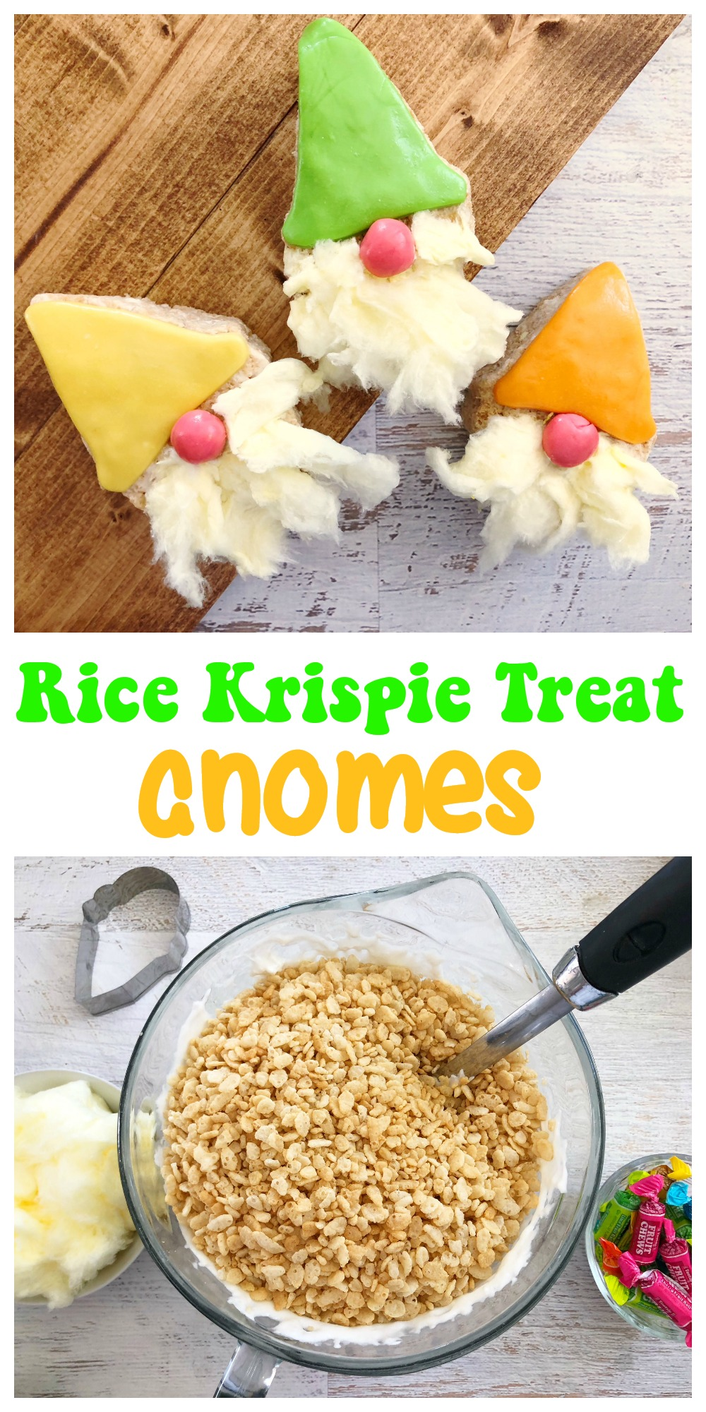 Have fun celebrating the new Sherlock Gnomes movie with these Rice Krispie Treat Gnomes! It's a really easy recipe to make and they are even more fun to eat!