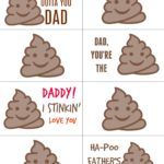Give dad a memorable gift this year for Father's Day with these Printable Poop emoji labels. He will never forget how much this year's Father's Day gift made his laugh!
