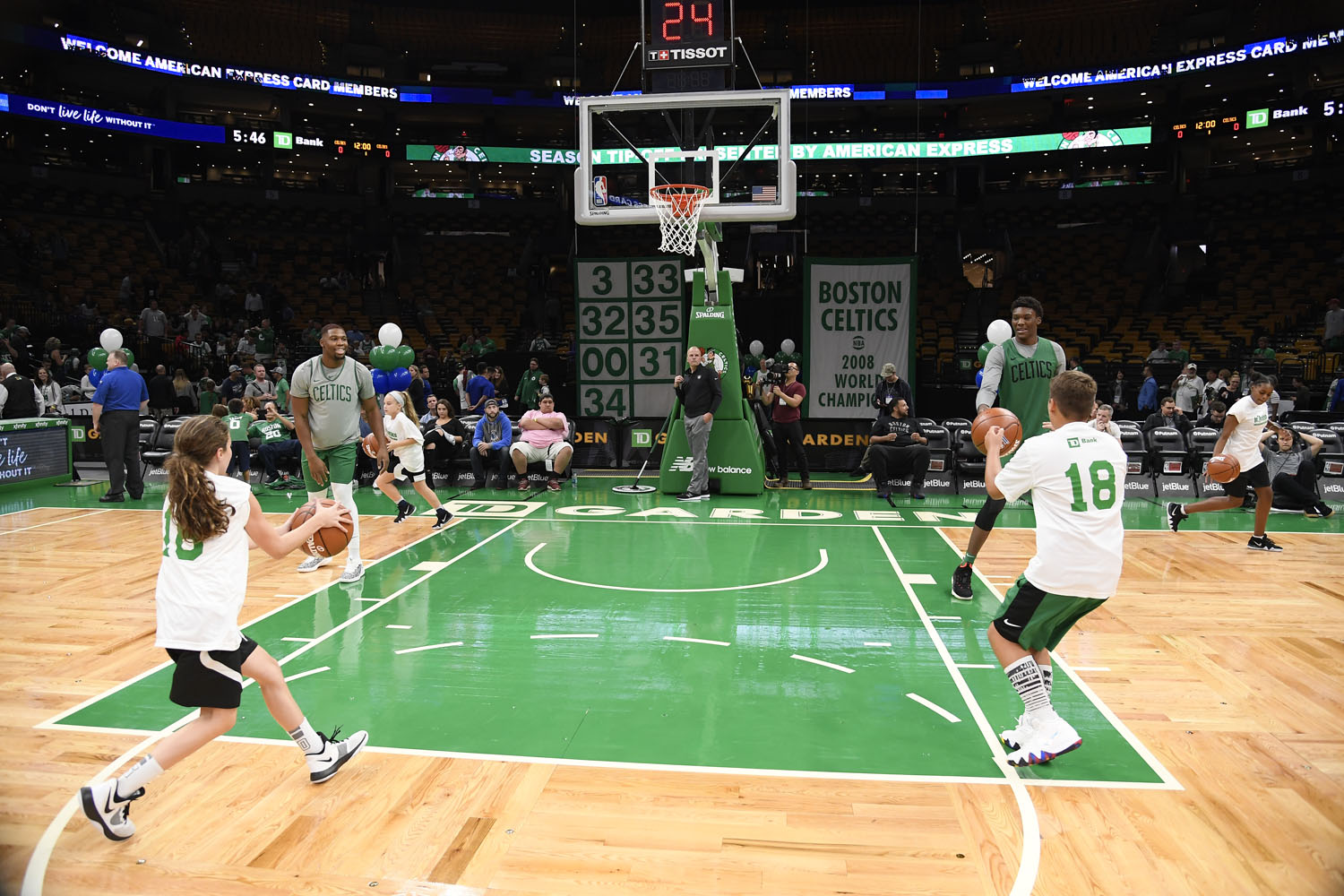 Jr. Celtics teaches the core values of Boston Celtics Basketball as part of its mission to improve healthy youth development in the Boston community.
