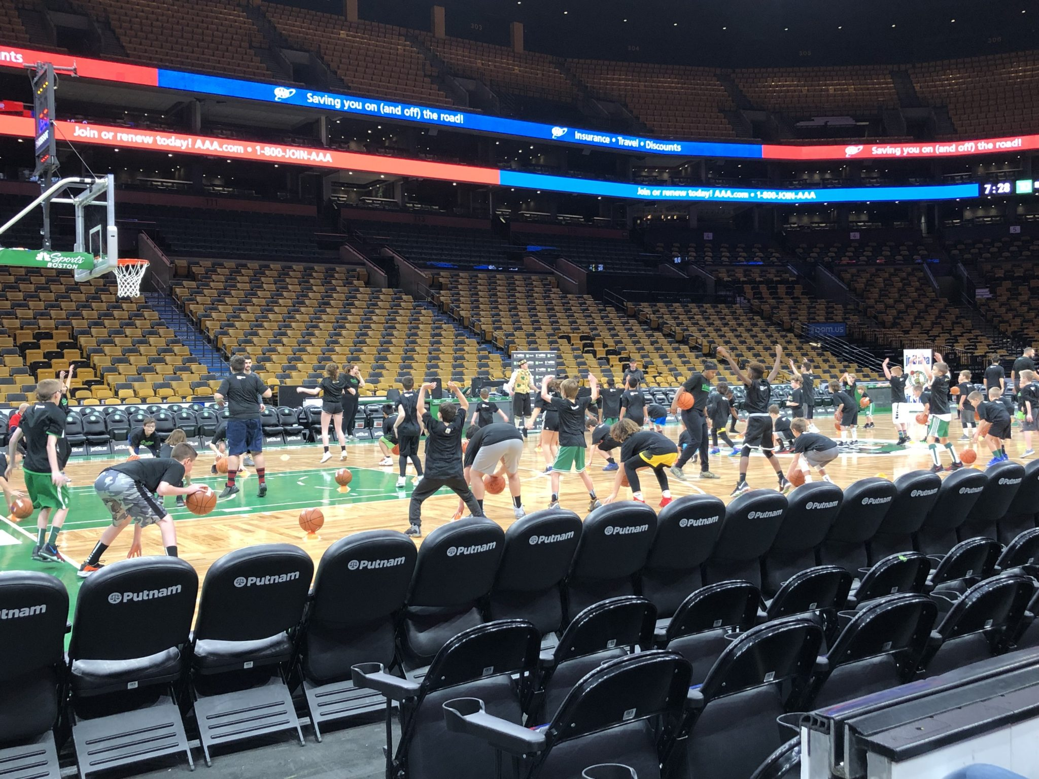 "A Jr. Celtics Gameday Clinic is an unforgettable experience for young basketball fans. Learn what it means to ""be a Celtic"" on the court of the TD Garden."