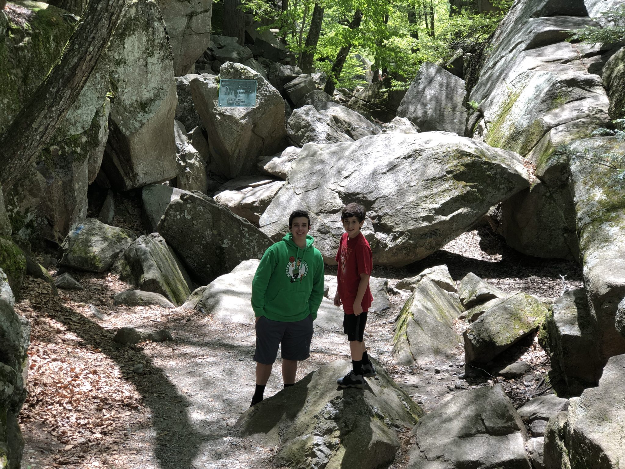 Purgatory Chasm is the best hike in Massachusetts! If you are looking for a mix of hiking and rock climbing in New England, Purgatory Chasm is perfect!