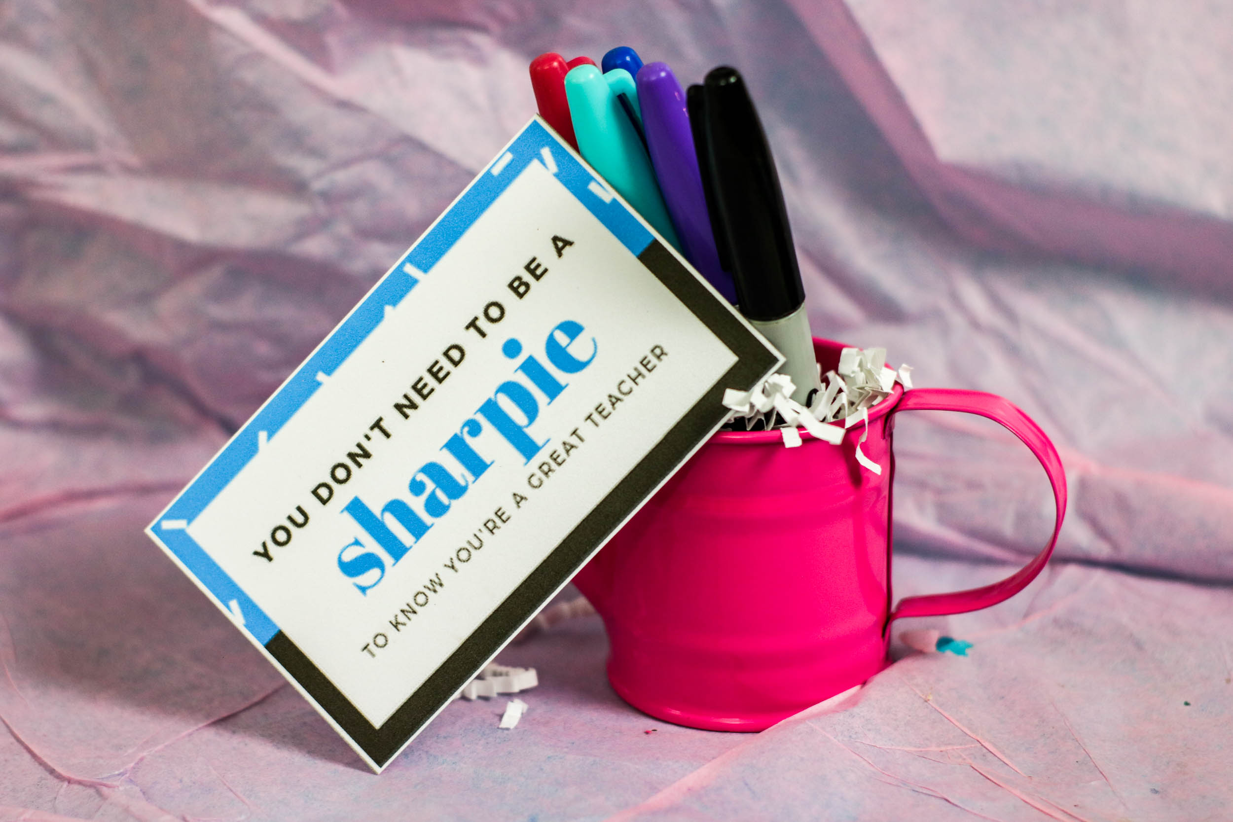 May 7th is Teacher's Appreciation Day. Show your kids teachers how much you appreciate them with this simple, but fun gift idea.