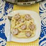 This Creamy Crock Pot Kielbasa Pasta recipe is easy to make,is absolutely delicious and is a perfect meal to serve on a chilly winter night.