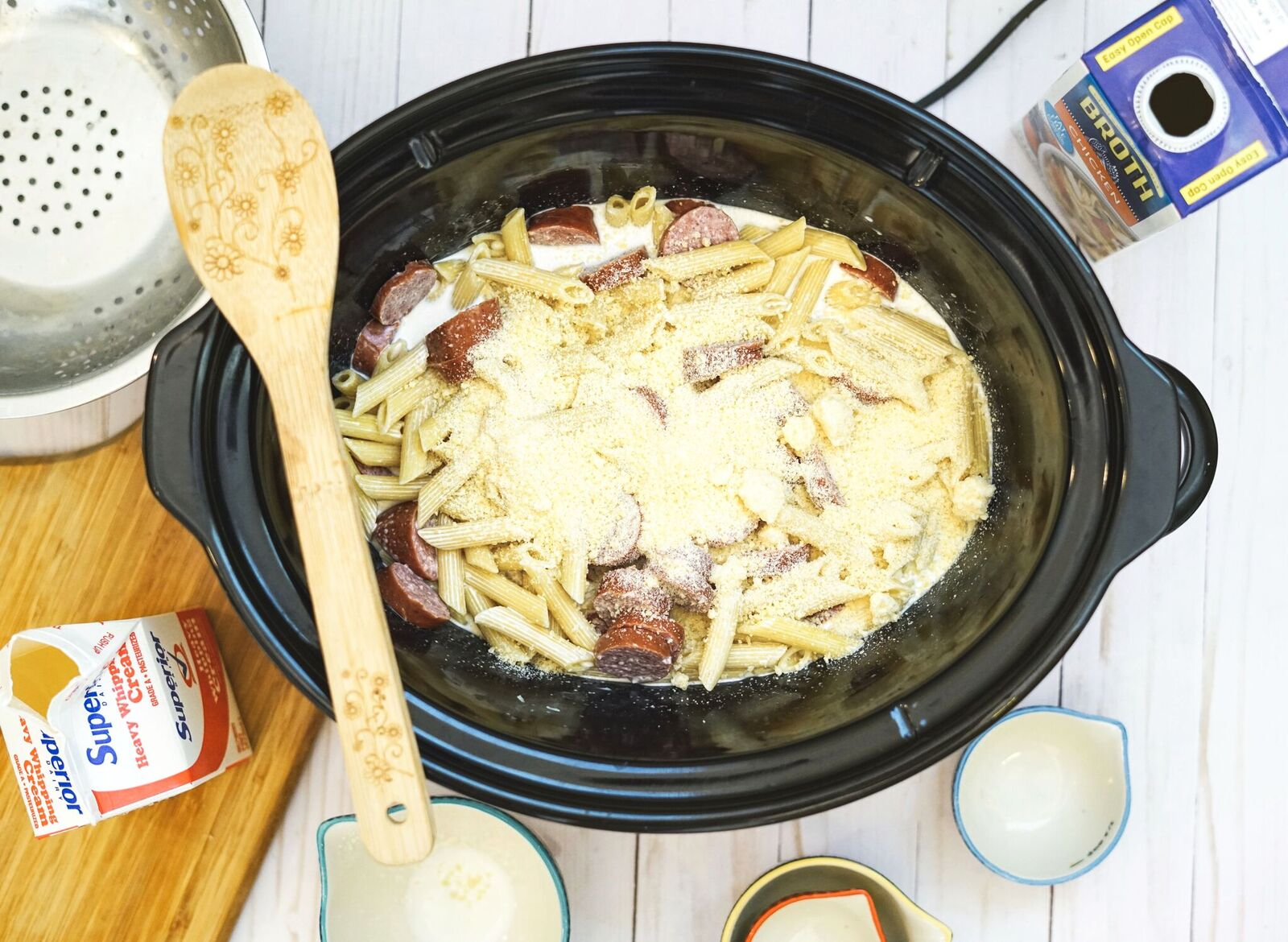 This Creamy Crock Pot Kielbasa Pasta recipe is easy to make, is absolutely delicious and is a perfect meal to serve on a chilly winter night.