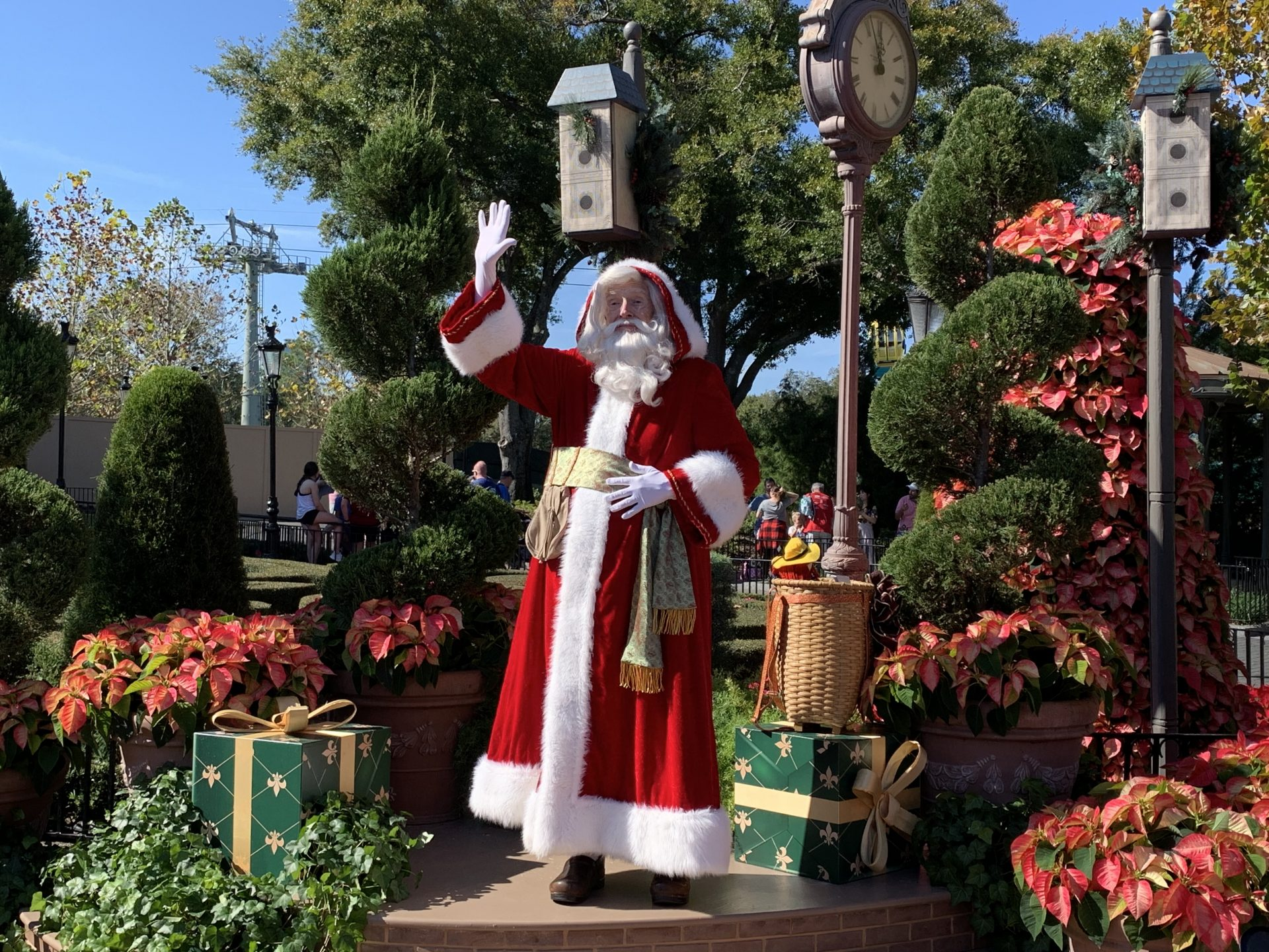 Have you gone to Epcot's Festival of the Holidays? Each country is decked out with festive decorations and they offer a slew of special seasonal treats.