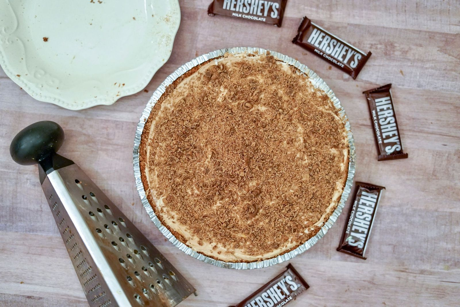 "If you're a chocolate lover, this Hershey Pie is for you.  This recipe is as ""easy as pie"" to make and will definitely satisfy that sweet tooth!"