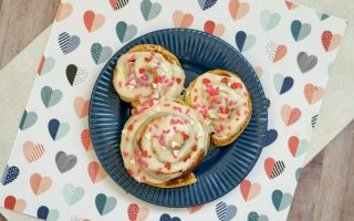 If you have some Disney fans in the house, these Mickey Cinnamon Rolls are a perfect sweet treat for Valentine's Day.  They are easy to make and just like the ones sold in the parks.